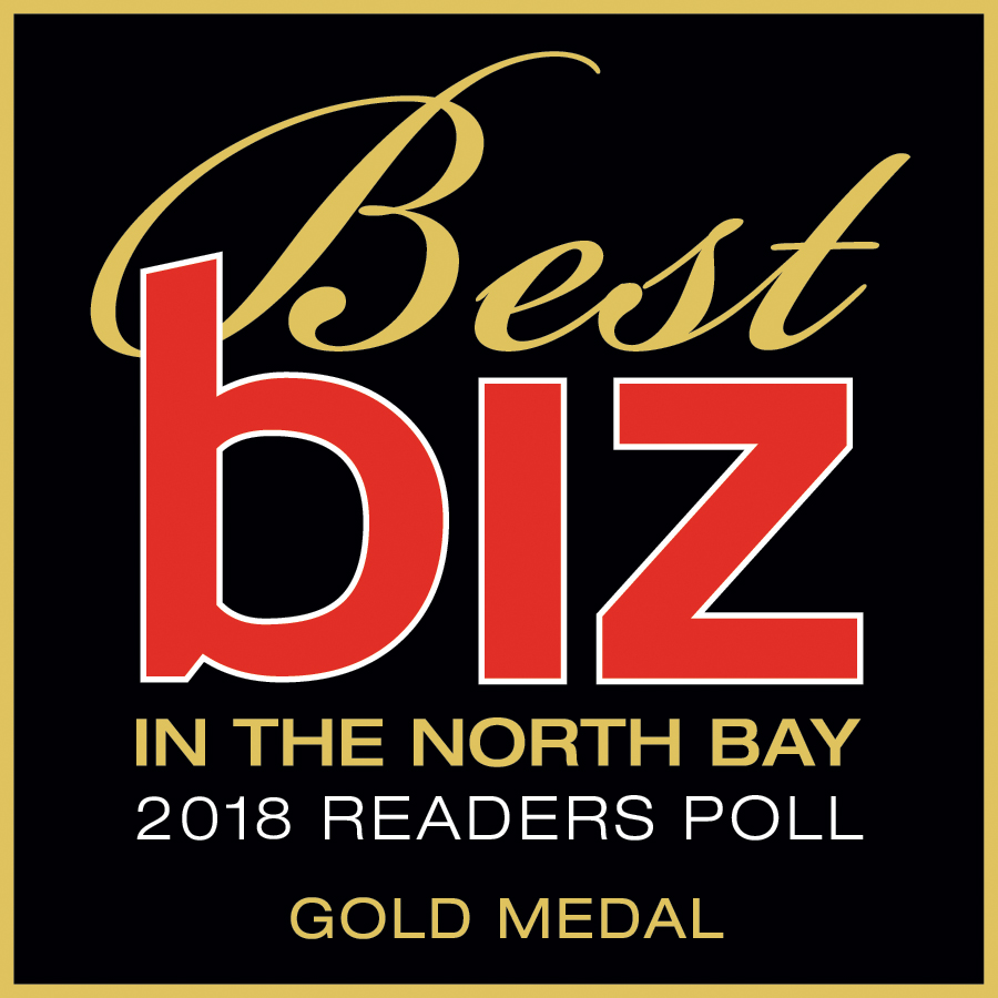 best biz in the north bay 2018 readers poll gold medal logo
